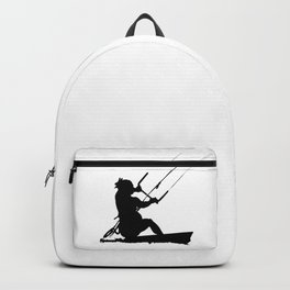 Wakeboarder Water Sport Silhouette Backpack