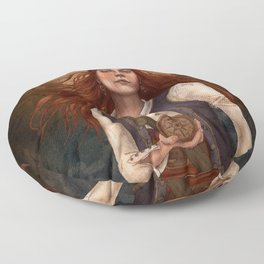 Our Lady of the Seven Seas Floor Pillow