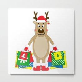 Happy Deer Metal Print