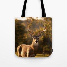 White Tailed Deer In Field Tote Bag