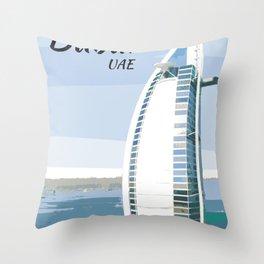 Burj Al Arab Dubai UAE Throw Pillow