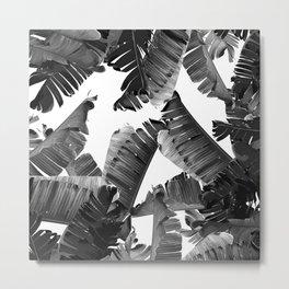 Banana Black & White Metal Print