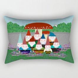 Garden Gnomes Rectangular Pillow