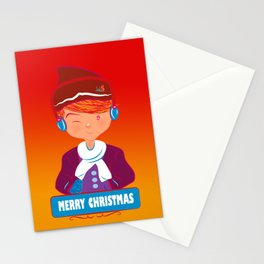 "Mikel AlfsToys say: ""Merry Christmas""  Stationery Cards"