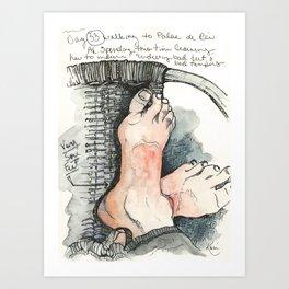 Camino de Santiago - Pilgrim Feet Art Print