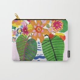 Abstract Flower Bouquet Carry-All Pouch