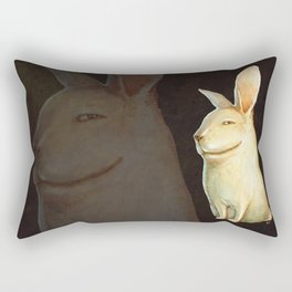 smile rabbit Rectangular Pillow