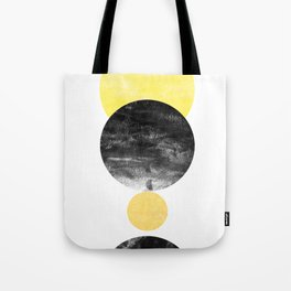 Geller - modern minimal abstract painting white and black gold foil glitter sparkle hipster trendy  Tote Bag