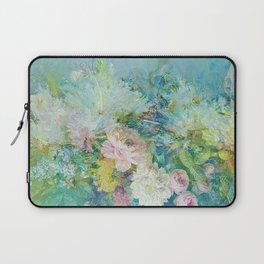 Abstract pastel spring floral Laptop Sleeve