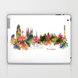 Barcelona Watercolor Skyline Laptop & iPad Skin