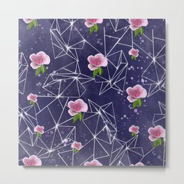 Floral geometry pattern Metal Print