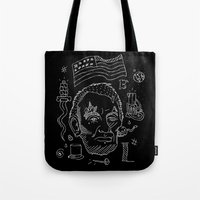 lincoln Tote Bags featuring Abraham Lincoln by Maioriz Home