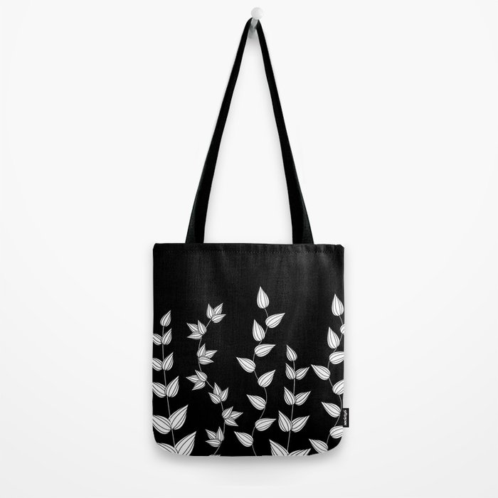 Black and White Garden Tote Bag