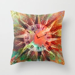 Synchronicity 11:11 Clock Face Time Design Throw Pillow