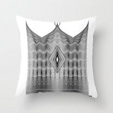Spirobling XXIV - Knitted Crown Throw Pillow