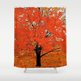 AUTUMN TREES OF ORANGE AND GOLD Shower Curtain