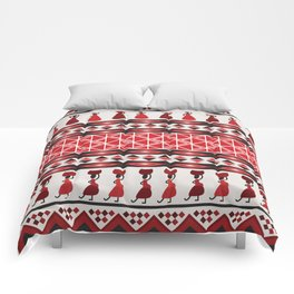 African Tribal Pattern No. 85 Comforters