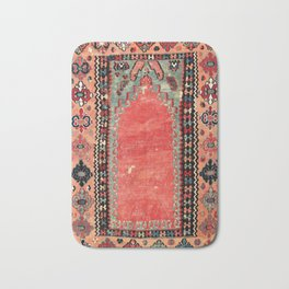 Sivas  Antique Cappadocian Turkish Niche Kilim Print Bath Mat