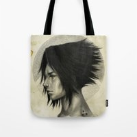 sasuke Tote Bags featuring Weight of the World by thegreencarousel