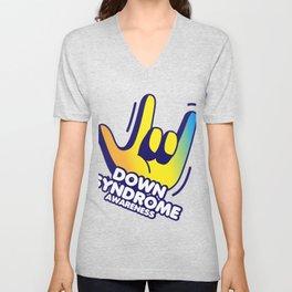 Down Syndrome Awareness Unisex V-Neck