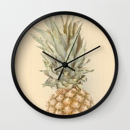 Pineapples On A Vintage Mood #decor #society6 Wall Clock