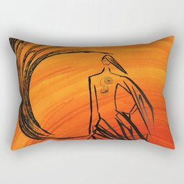 Angel under cover Rectangular Pillow