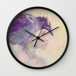 The witch crow Wall Clock