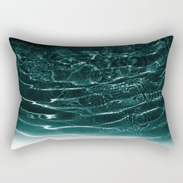 Dark Night Teal Ocean Dream #1 #water #decor #art #society6 Rectangular Pillow