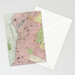 Vintage Map of Montreal (1903) Stationery Cards