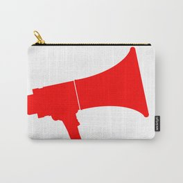 Red Isolated Megaphone Carry-All Pouch