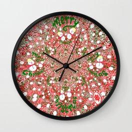 Merry Christmas, Happy Holidays Wall Clock