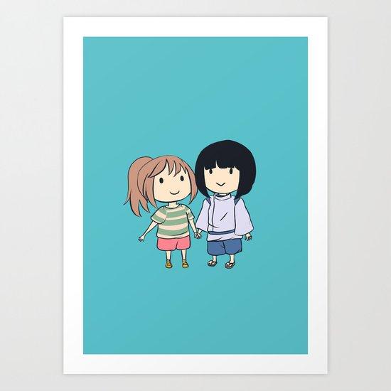 Chihiro & Haku Art Print