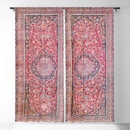 Tabriz West Central Persian Rug Print Blackout Curtain