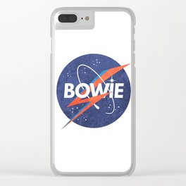 Iconic Bowie Clear iPhone Case