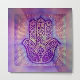 Namaste Purple Zen Art Metal Print