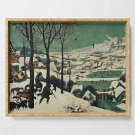 HUNTERS IN THE SNOW - BRUEGEL Serving Tray