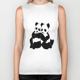 Panda Bears Biker Tank