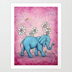 Pink Ellie Art Print