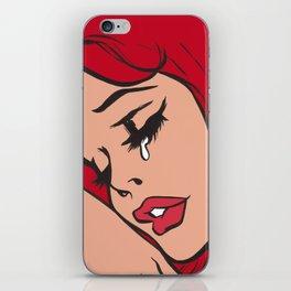 Red Head Sad Comic Girl iPhone Skin