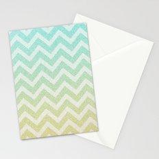 Chevron Rain Stationery Cards