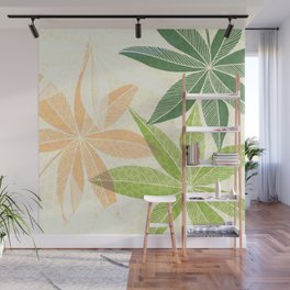 Modern Hawaiian Print IV / Contemporary Floral Wall Mural