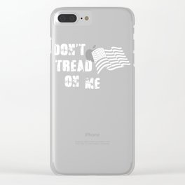 Don't Tread On Me American Flag Clear iPhone Case