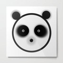 Panda Stare Metal Print