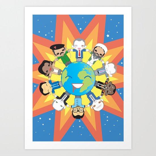 THE WORLD ROBOTIC Art Print
