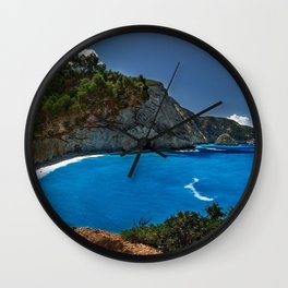 porto katsiki lefkada greece ionian sea hdr Wall Clock
