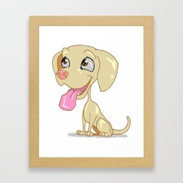 Gold Lab Framed Art Print