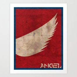Minimalist Angel Art Print