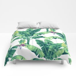 Banana leaf bloom II Comforters