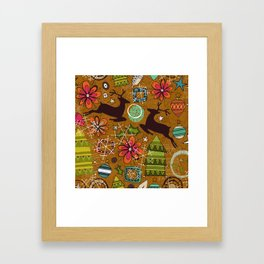joyous jumble gold Framed Art Print