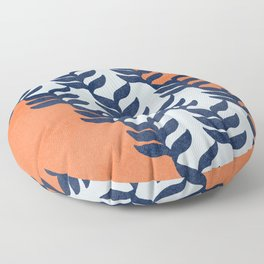 Colorful design with plants Floor Pillow